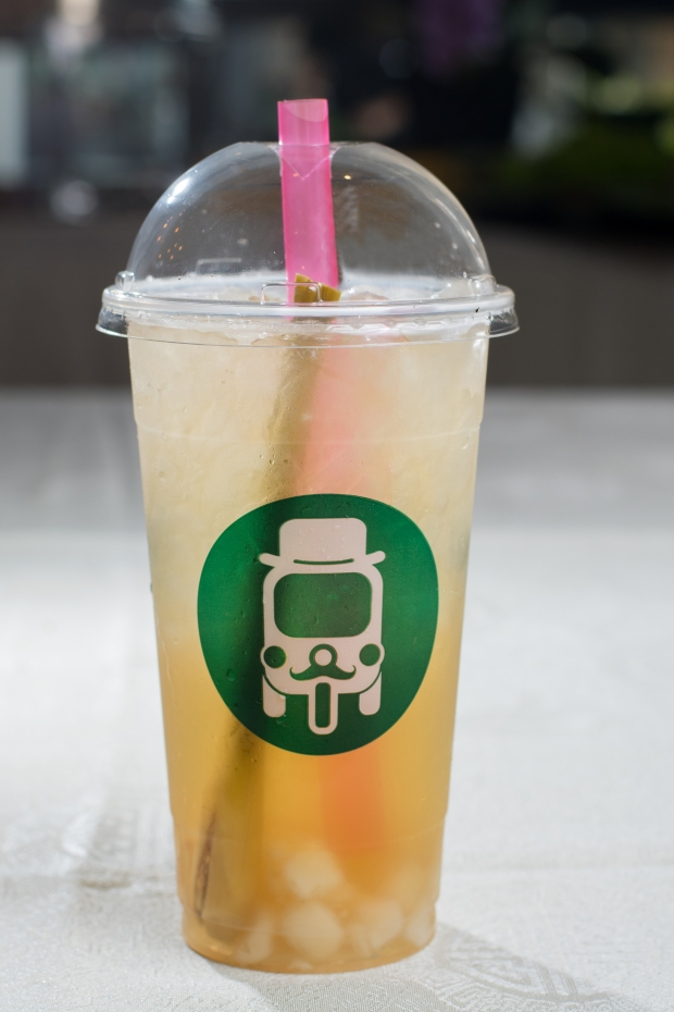 D -Thai Ice Lemongrass tea with crispy water chestnut pearls